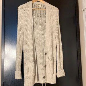 Long Comfortable Cream Sweater
